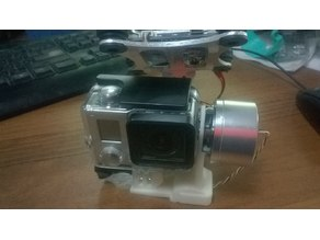 GoPro mount for FPV 2 Axis Brushless Gimbal with Controller For DJI Phantom CX-20 Go Pro 3 Silver