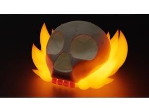 Simplified Flaming Skull (Wee Jas DnD token)