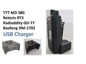 TYT MD 380, Retevis RT3, Radioddity GD-77 USB Charger