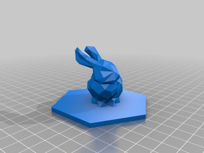 Low Poly Bunny Game Piece