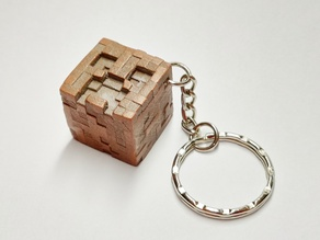 Minecraft Creeper correctly textured keychain keyring pendant