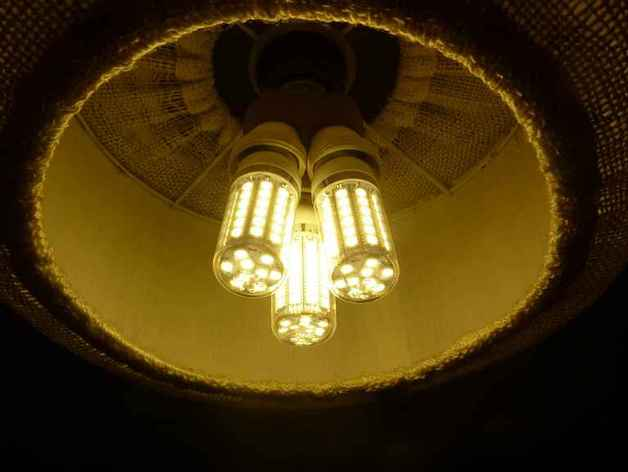 Douille 3 ampoules led e27 by patric123 thingiverse - Douille ampoule led ...
