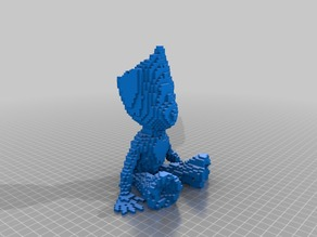 voxelized baby groot