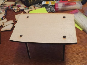 Laser Cut Miniature Modern Table