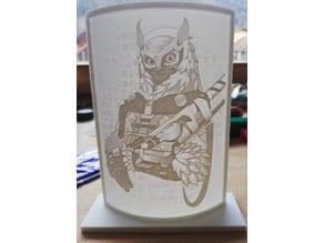 Ana Snow Owl - Lithography