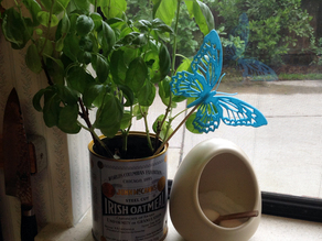 Monarch Butterfly Plant Critter (decorative pick)