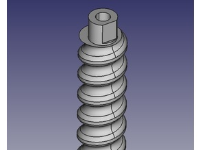 3d Printable Round Threaded Lead Screw and Nut