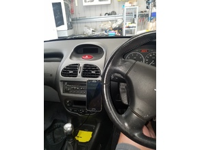 Peugeot 206 phone mount