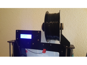 Filament support arm and LCD displacement for CTC Prusa i3 Pro B