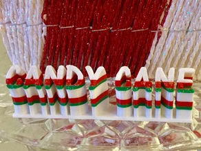 Christmas Candy Cane Word