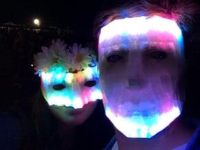 LED Low Poly Masquerade Mask
