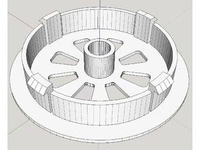 Spool holder Ends 57mm OD - 8mm ID