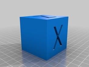 XYZ 50mm Calibration Cube