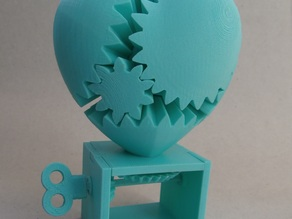 Re shaped parts for a better base-spinning Gear Heart.