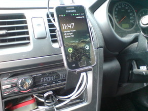 Car mount for Galaxy S
