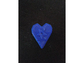 1mm Guitar pick with pentagram