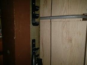Garage triple hook