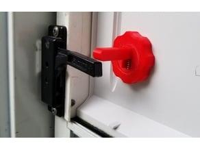 RV Screen door push lever