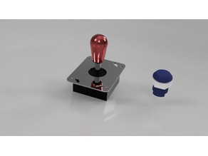 Arcade Joystick and Button