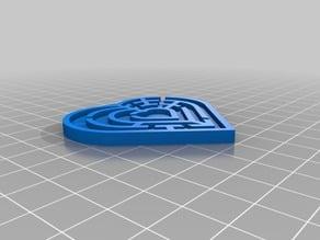 Random maze heart generator