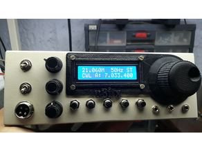 uBitx Display and VFO Knob front plate