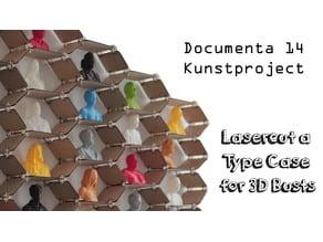 Lasercut a Type Case for 3D Busts   Setzkasten lasern für 3D Büsten