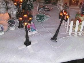 christmas village lamp holder