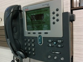 Cubicle wall phone mount for Steelcase Slatwall