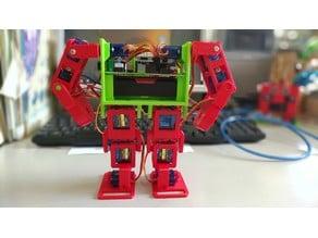 12 dof biped robot