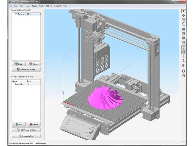 Prusa MK3 STL for your slicer background model by ocieward