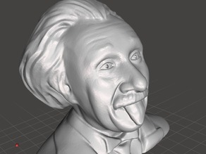 Tongue Einstein Bust with Pupils (Reduced Filesize)