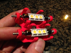 Vanagon Dual LED light holder 2