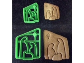 Simple Nativity Cookie Cutters