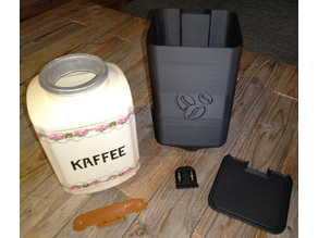 coffee bean storage container for an old manual coffee grinder