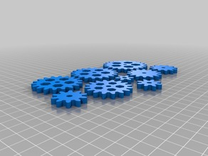 Set of compatible gears