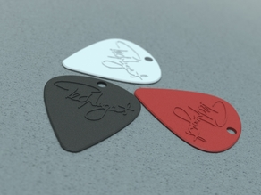 Guitar Pick with Hole for Keychain (Ted Nugent)