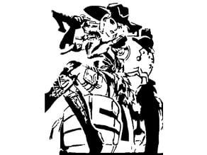 Ashe and Bob stencil