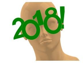 2018 Happy New Year Fun Glasses