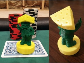 Rude Cheesehead Gnome Poker Card Capper - Green Bay Packers