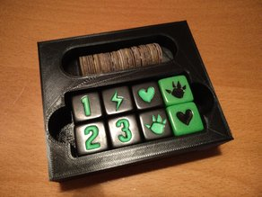 Dice & Tokens box - insert for King of Tokyo