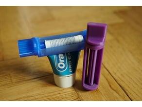 Shortened Toothpaste Tube Squeezer
