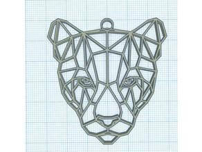 Tête de panthère géométrique - Geometric panther head