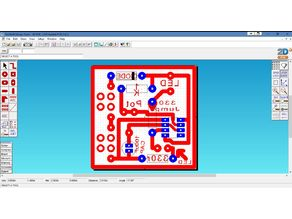 555 Astable Circuit Diagram and PCB Layout - Techsoft 2D PCB