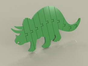 Flexi Articulated Triceratops