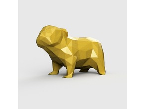 English Bulldog - Low Poly - Low Polygon model