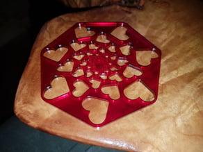 Heart Mandala Coaster