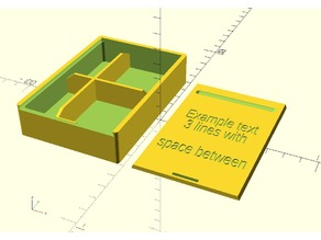 Parametric Divided Box with Sliding Top and text on the lid