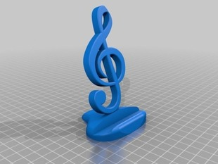 Phone base treble clef