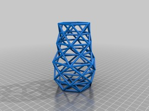 Wireframe Vase Low Poly
