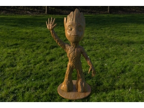 baby groot standing waving w stand